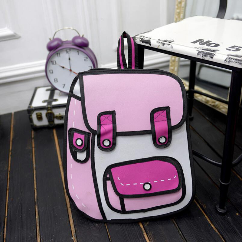 New Arrival 2d / 3d Cartoon Backpacks Stereoscopic Backpack Comic Cartoon Backpack For Teenagers Women Bag Travel Bag