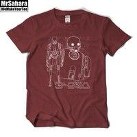 2017 New Star Wars Movie T Shirt Men Women Short Sleeved T Shirt K 2SO Robot
