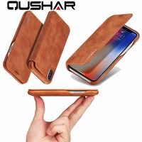 Phone Bag Case For Apple IPhone 6 6S 7 8 Plus Flip Stand PU Card Cover
