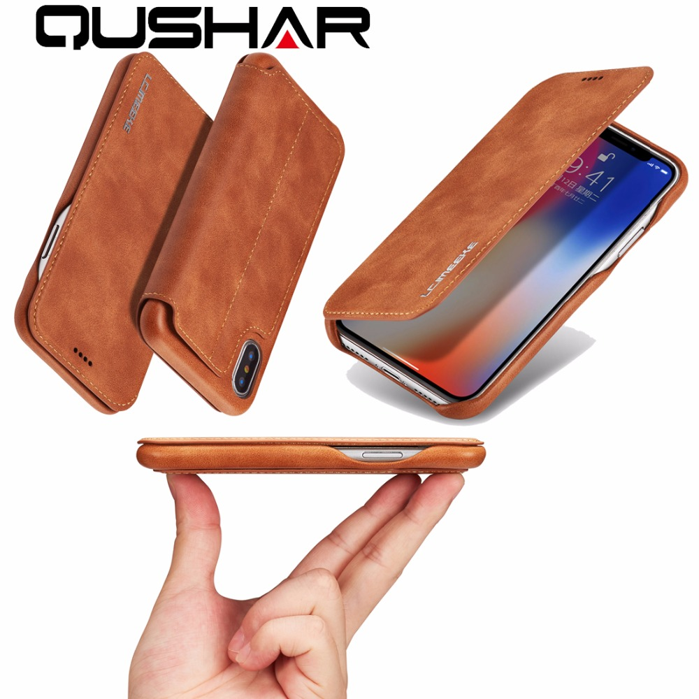 Phone Bag Case For Apple iPhone 6 6S 7 8 Plus Flip Stand PU Card Cover Case Luxury Leather Business Wallet Shell For IPhone X 10