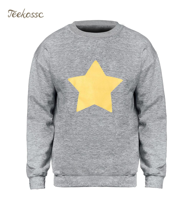 STEVEN UNIVERSE STAR COOKIE CAT Hoodie Men Casual Sweatshirt New Fleece Warm Yellow Star Sweatshirts Graphics Design Streetwear