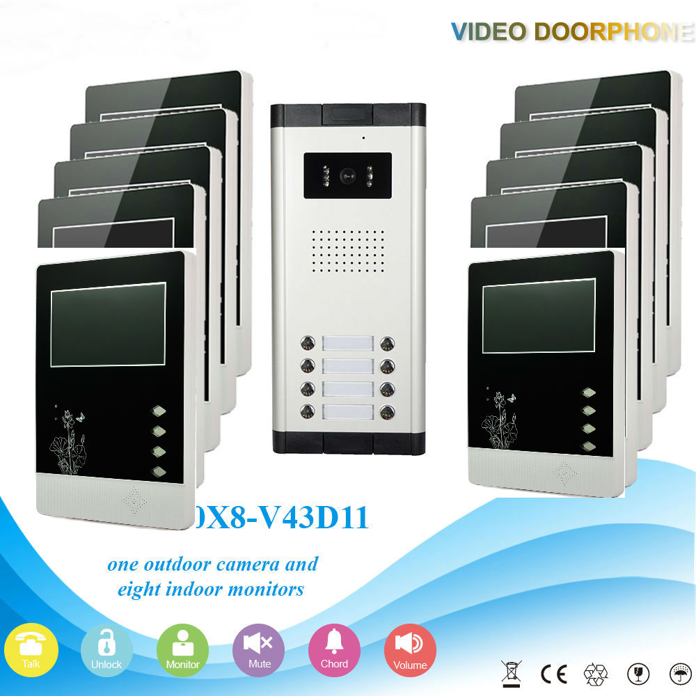 ᗚYobangSecurity Wired 4.3 Inch Monitor Video Door Bell Phone ...