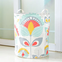 ROSEHOME 1 Pc Folding Sunflower Printed Laundry Basket Linen Cotton for Toys S M L Dirty Clothes Books Desk Organizer