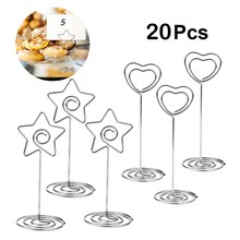 20 Pieces Door Name Table Holder Photo Memo Card Clip Brand Place Wedding for Wedding Birthday Decorations(China)