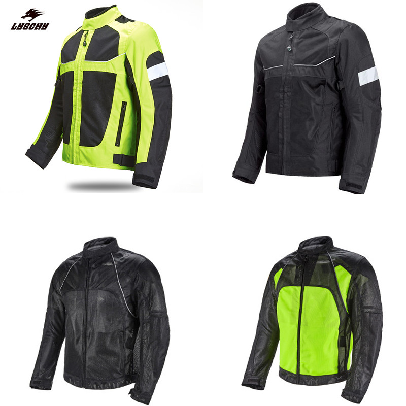 Lyschy Motorradjacke männer Motocross Racing Sicherheit Reflektierende moto jacke Reiten Motorrad Schutzausrüstung jaqueta motoqueiro