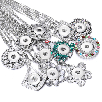 New Snap Button Necklace Jewelry for Women 18MM 20mm