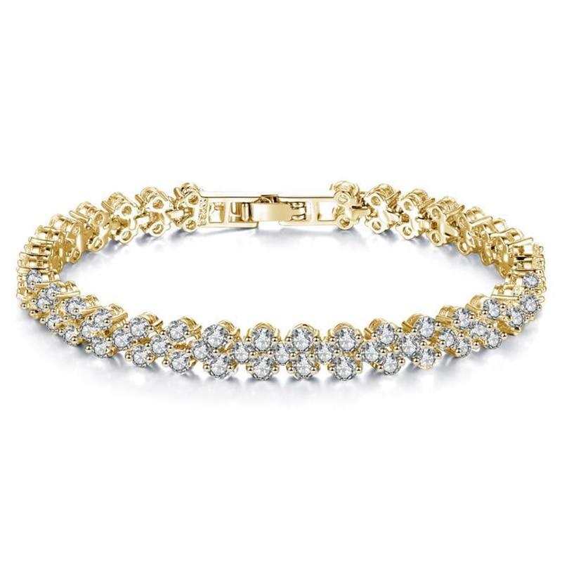 Women Luxurious Roman Crystal Bracelet 2