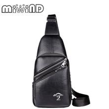 MIWIND Echtes Leder Männer taschen rinds brust pack männer Crossbody brusttaschen kleine tasche für männliche männer messenger tasche handtaschen