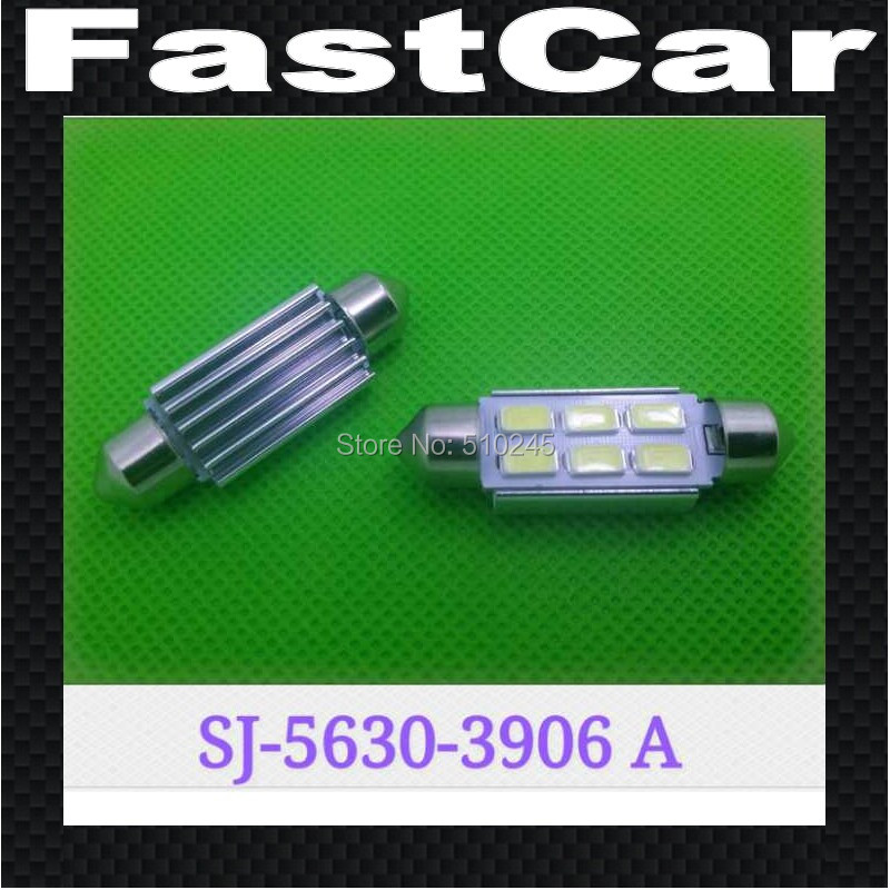 100x Car led festoon light c5w 6 led smd 6smd 5630 39MM Headlight reading light Free shipping