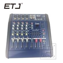 ETJ Marca 16DSP Professional 200 W 4 Canal Mixing console DJ Mixer Karaoke Amplificador Amplificador com USB 48 V Phantom fonte de Alimentação