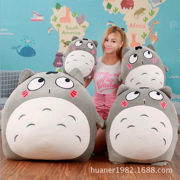70cm Big size Hayao Miyazaki My Neighbor Totoro pillow lovely doll Plush Toy Girl Birthday Gift original totoro big cat bus miyazaki hayao ghibli cute stuffed animal plush toy doll birthday gift children boy girl gift