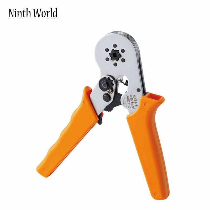 Werkzeuge 1 Stücke Top Qualität Hsc8 6-6 Mini-type Selbst Einstellbarer Quetschverbindenzange 0,25-6mm Terminals Crimpen Multi-tools