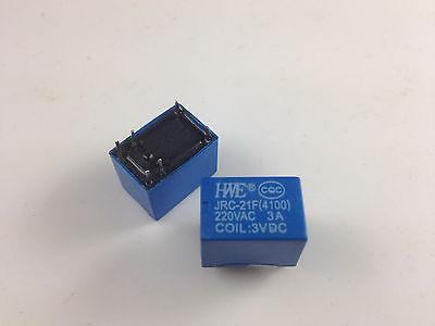 цена на 50pcs Miniature PCB Relay JRC-21F 4100 DC 3V 6 Pins