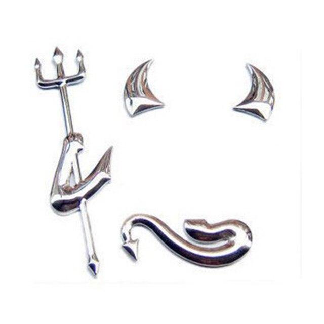 Car Sticker Fashion 3D Little Devil  Demon Styling Auto Emblem Logo PVC Decals Decoration DIY Accessories