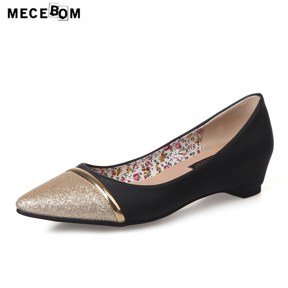 Women brand shoes fashion pointed-toe slip-on flats height increse 5cm ladies shoes size 35-40 sapato feminino 963w hot sale 2016 new fashion spring women flats black shoes ladies pointed toe slip on flat women s shoes size 33 43