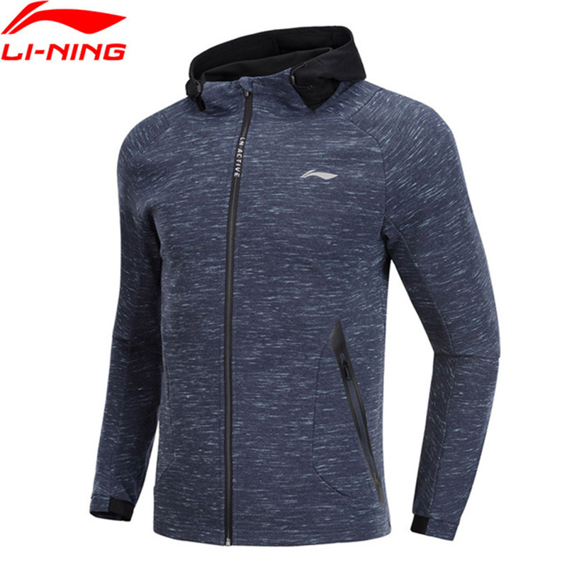 Li Ning Men Training Series Hoodie 3D Fitting 100 Cotton Regular Fit Comfort LiNing Sports Coats