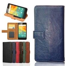 Кожаный чехол-кошелек в стиле ретро, чехол-футляр, корпус чехол для телефона Vertex Impress Zeon 4G