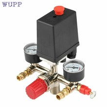 Adjustable Pressure Switch Air Compressor Switch Pressure Regulating with 2 Press Gauges Valve Control Set(China)