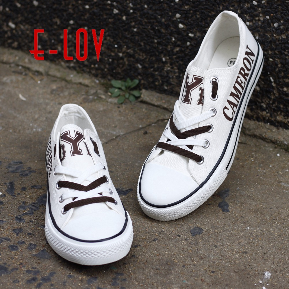 2018 New Customization Printed Canvan Shoes Cameron Yoemen College Shoes So Cool Graffiti Leisure Shoes For Fashion Gift