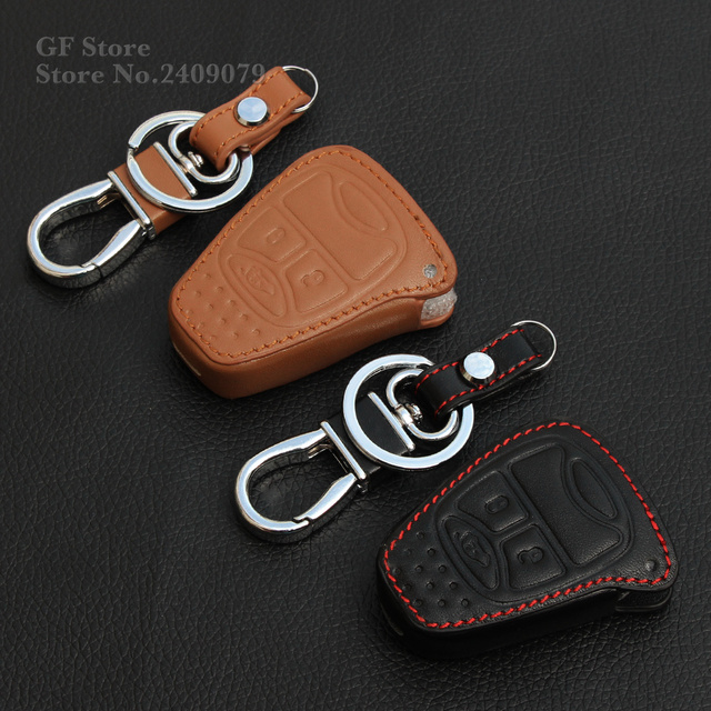 Top Quality Leather Car Key Fob Set Covers Case Stickers For Jeep