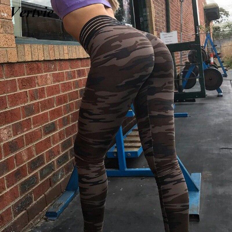 Vertvie Brand Sexy Women Running Yoga Leggings Trainning Yoga Pants Push up Gym Sport Pants Jogger Running Fitness Leggins Pants