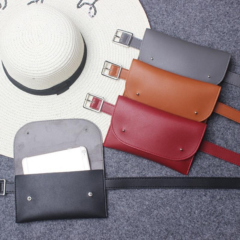 Mihaivina mode läder telefon midjan väskor Fanny Pack avslappnad - Bälten väskor - Foto 6