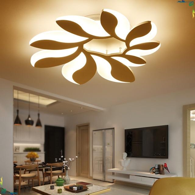 Afstandsbediening plafond verlichting moderne lamp woonkamer ...
