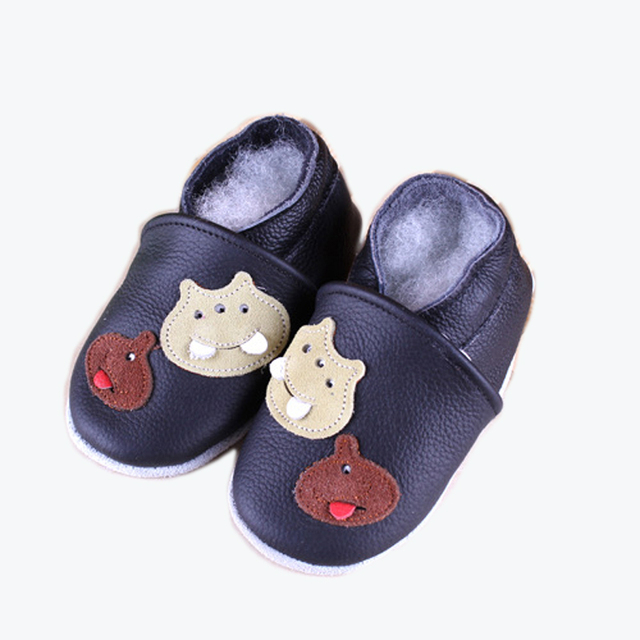 2017 Winter New Cartoon baby shoes baby girl boy first walkers infant toddlers shoes soft sole Genuine leather prewalker shoes