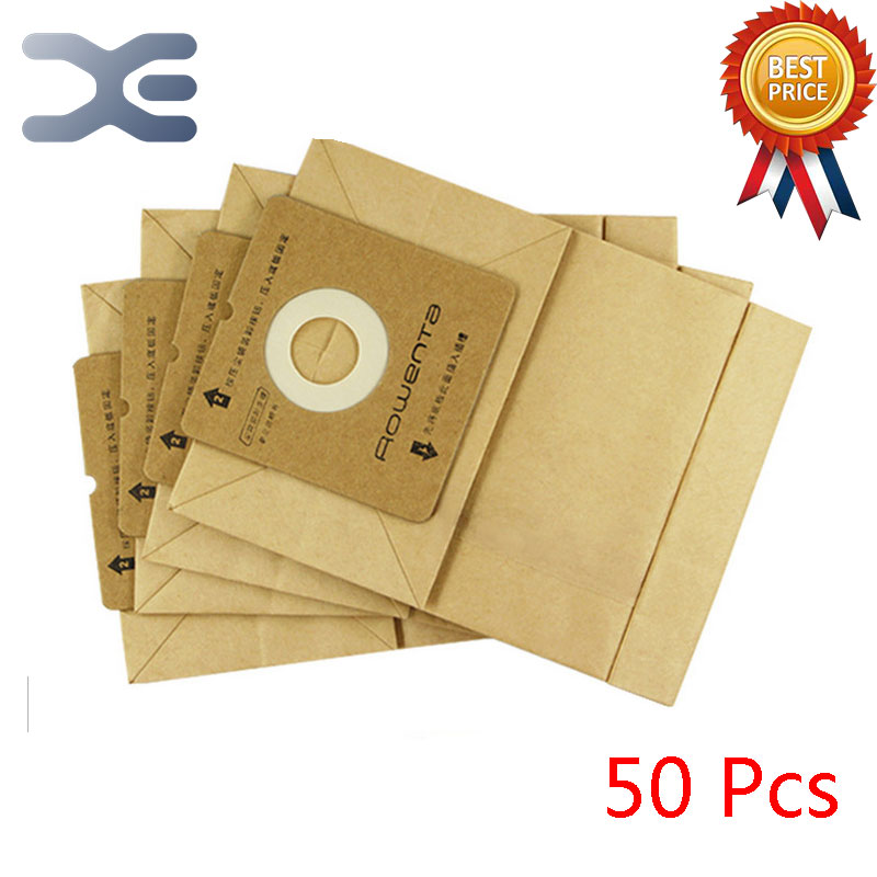 50Pcs High Quality Adaptation Electrolux Vacuum Cleaner Accessories Dust Bag Paper Bag ZW1100-101 / 1100-102