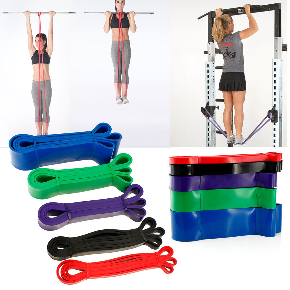2018 NEW Natural Latex Pull Up Physio Resistance Bands Fitness CrossFit Loop Bod