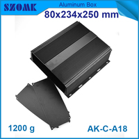 1pcs Lot Free Shipping Black Aluminum Case With Heat Sink For Electronics And Industry Use Oxygened