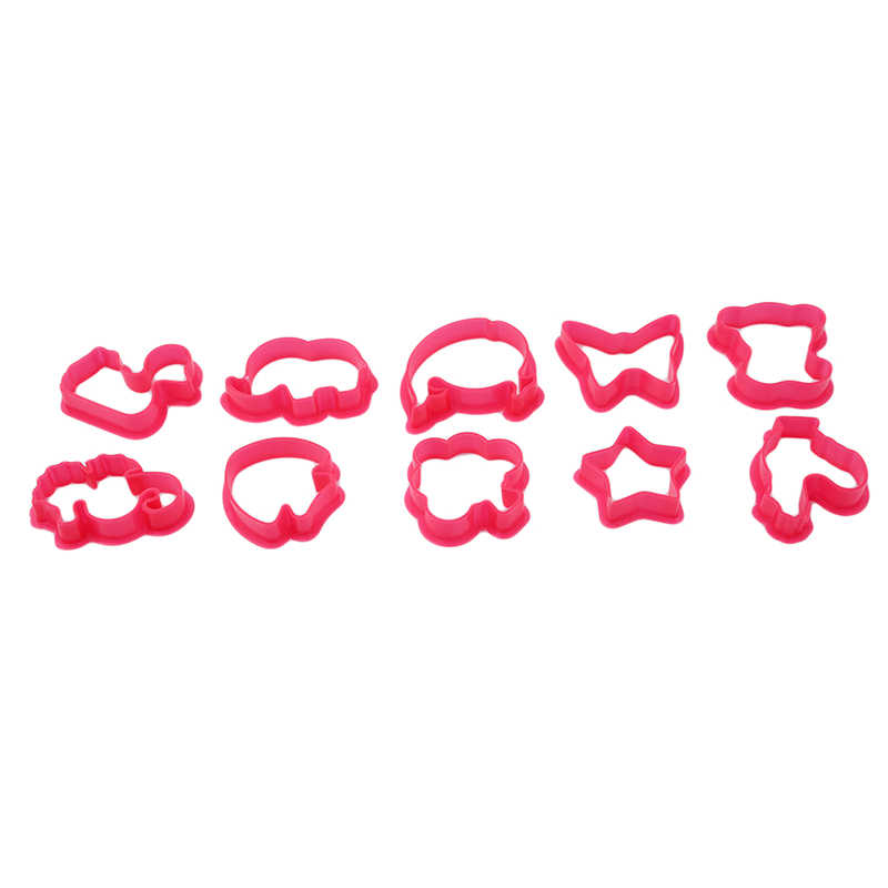 10pcs/set Play Dough Plasticine Mold Tools Set Kids Playdough Polymer Clay Funny Beach Toy Random Color