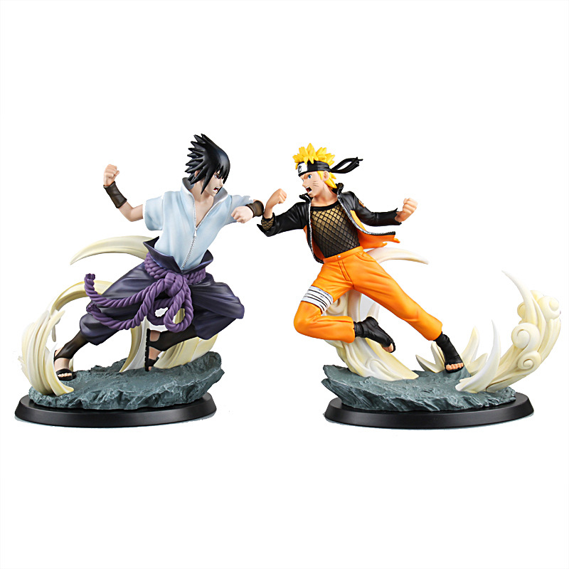 Birthday Toy Gift Hot Japan Anime NARUTO Action Figure Collection Tsume Final Duel Naruto Vs Sasuke Model Decorations hot selling 70cm bearbrick luxury lady ch be rbrick pvc action figure collectible model toy birthday gift ornaments