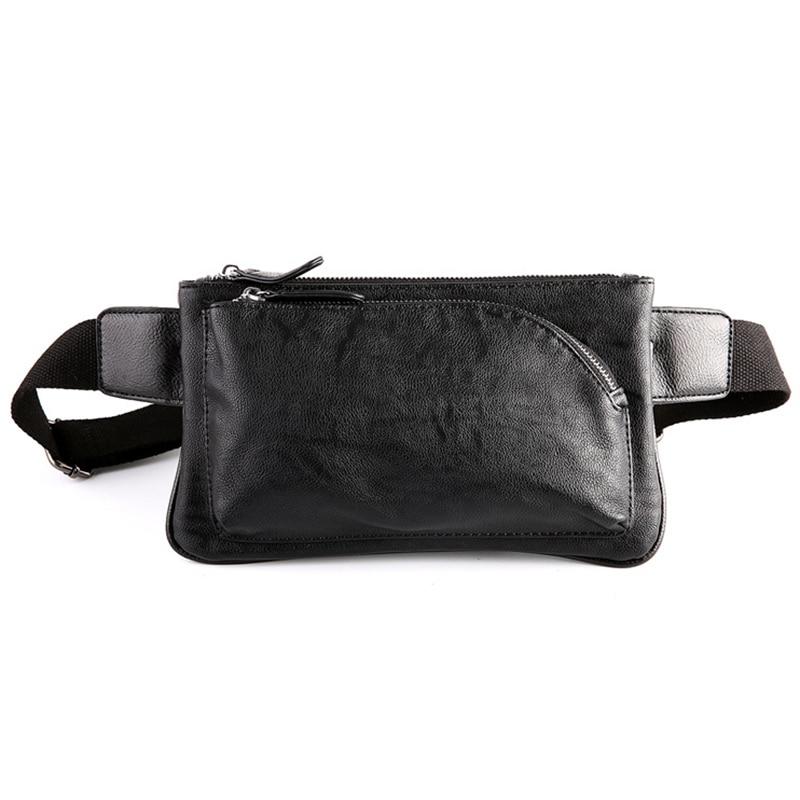 Läder Waist Packs Män Fanny Pack Beltväska Telefonpåse Väskor - Bälten väskor - Foto 1