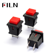 DS430 2 pins momentary push button switch Push on Red Color