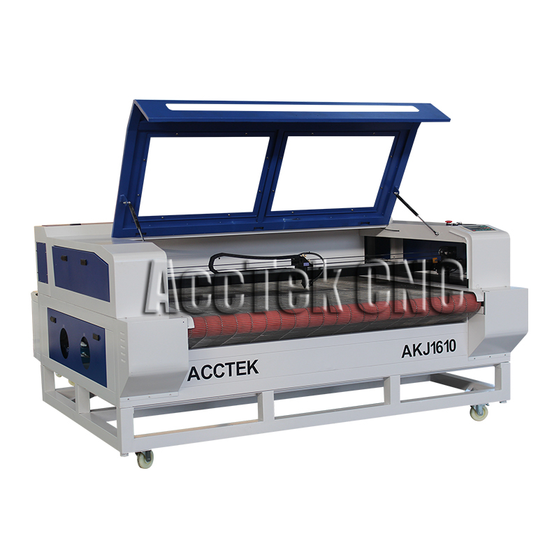 High Speed AccTek Laser Cutter 100w 130W 150W 180W Laser Machine For Cloth Cutting