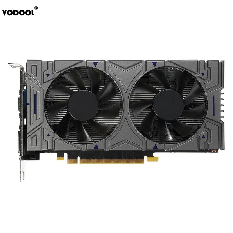 VODOOL GTX 1050 2GB DDR5 128Bit PCI-E VGA DVI HDMI Dual Cooling Cooler Fans Computer PC Desktop Graphics Card For NVIDIA GeForce computer pc vga cooler fans graphics card fan for galaxy gtx960 gtx 960 video card cooling