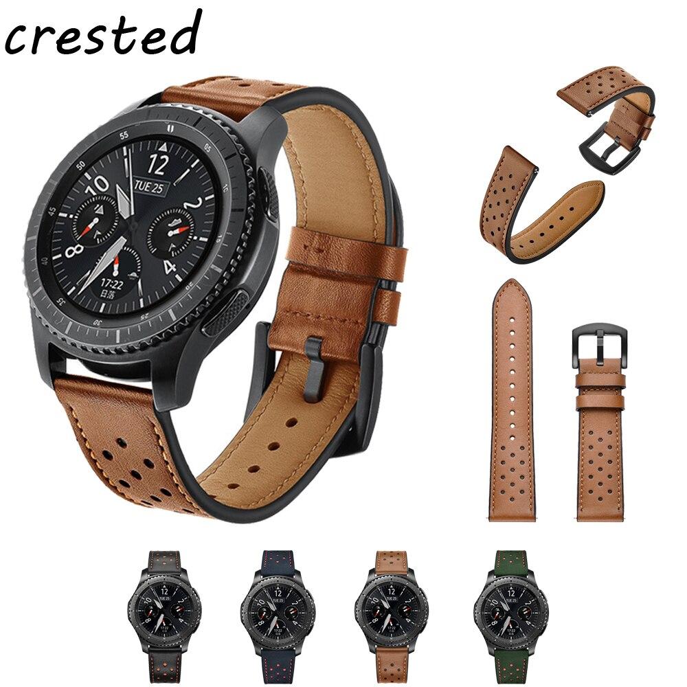 22mm Véritable Bande de montre En Cuir pour Samsung Vitesse S3 Frontière/Classique sangle pour Xiaomi Huami Amazfit Rythme/ stratos 2/1 bracelet
