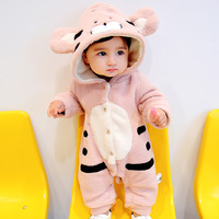 Winter Baby Romper Cute Cartoon Animal Rabbit Design Outfit Clothes Set Age 0 18m Christmas Baby