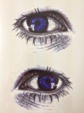Beautiful Blue Eye 21 X 15 CM Temporary Tattoo Stickers Temporary Body Art Waterproof#31