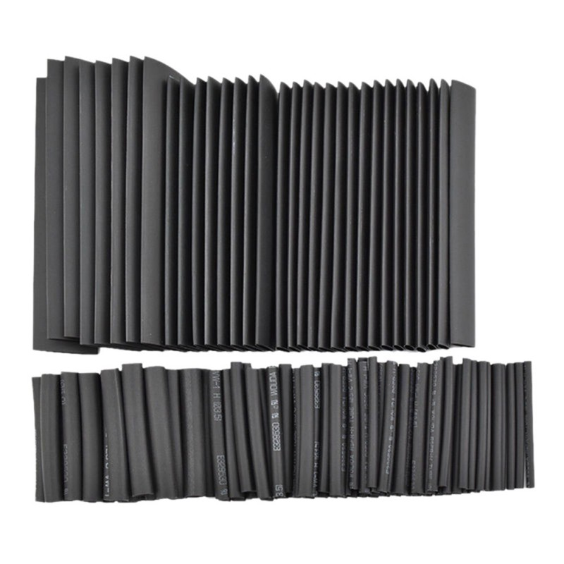 127 pcs Black Heat Shrink Tube Assortment Wrap Electrical Insulation Cable Tubing