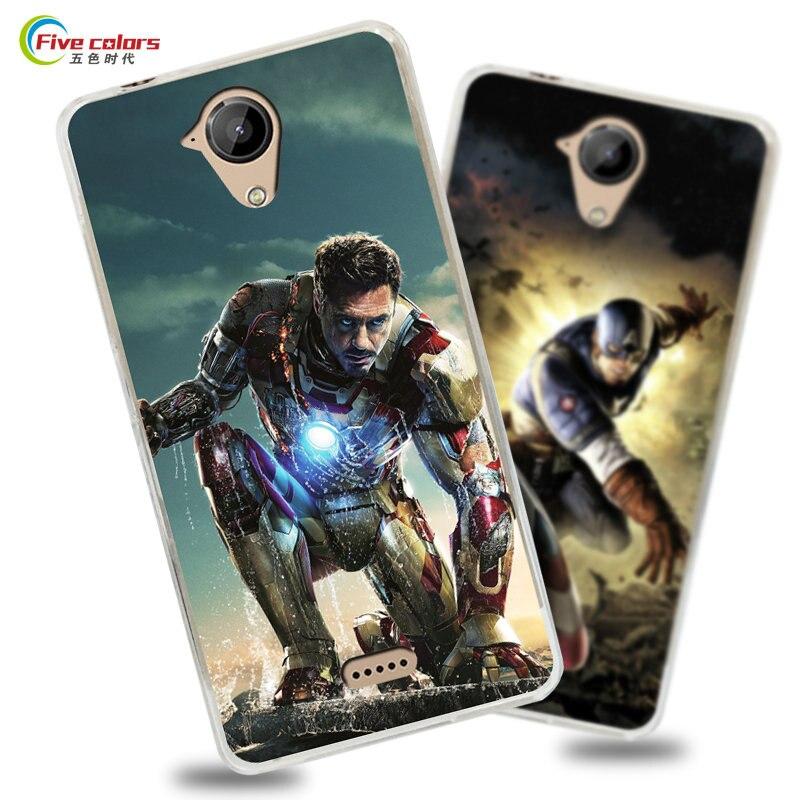 Mode Captain America Iron Man Superman 5.0 étui pour WIKO U Feel Lite doux étui en polyuréthane thermoplastique pour Coque WIKO U Feel Lite coques de ...