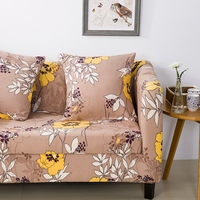 Yellow Flowers Printing Couch Sofa Covers 100 Polyester Pastoral Style Sofa Slipcovers Single Double Three Four