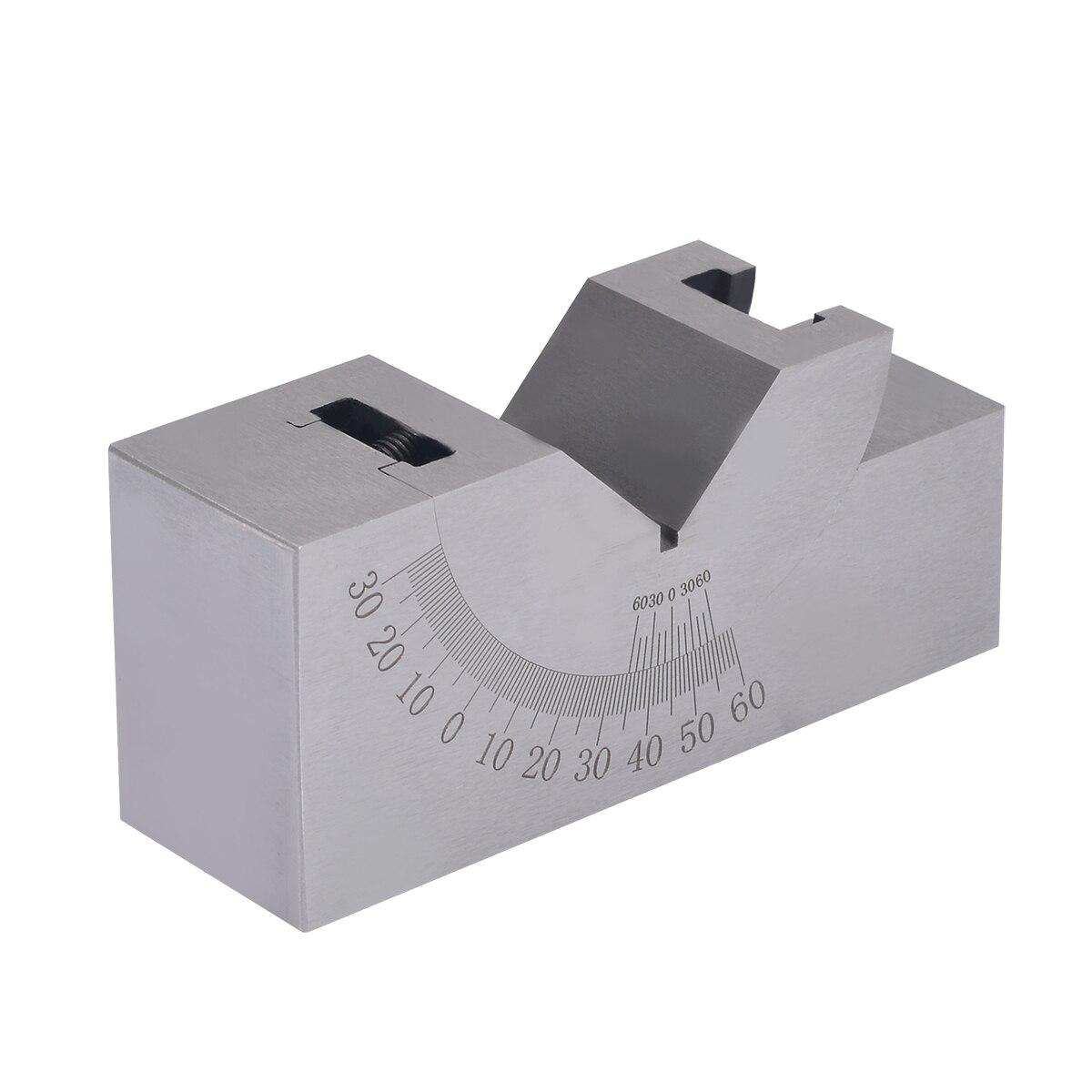 Precision Gauge Adjustable Angle V Block Milling Setup 0-60 Degree Angle Gauge