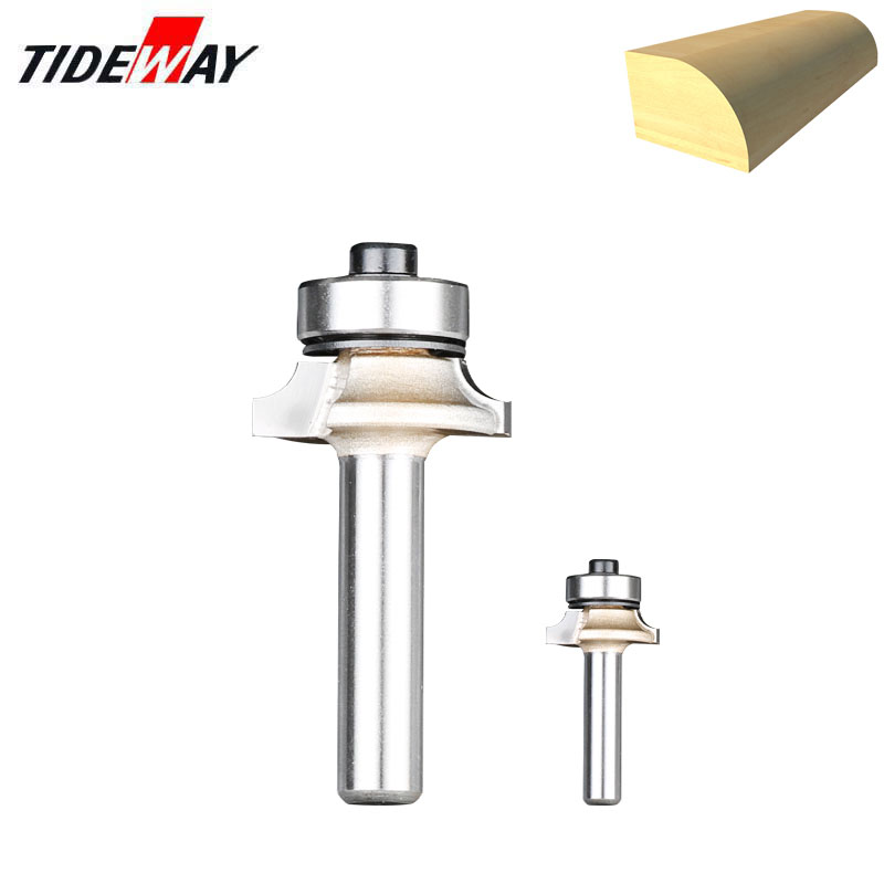 Tideway 1/4 6.35mm Corner Round Bit For Wood Woodworking Tool 2 Flute Endmill With Bearing Milling Cutter Corner Round Over Bits