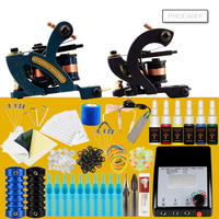 Complete Tattoo Kit Set Tattoo Machine LCD Power Supply 2 Guns Immortal Color Inks Tattoo Supplies Body Art Tools Tattoo Set