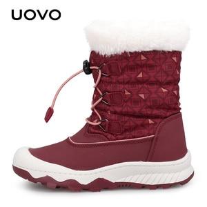 Image 3 - 子供の雪のブーツ 2020 uovo新到着冬のブーツ子供暖かいブーツ撥水と少年少女ぬいぐるみ裏地 #29 38