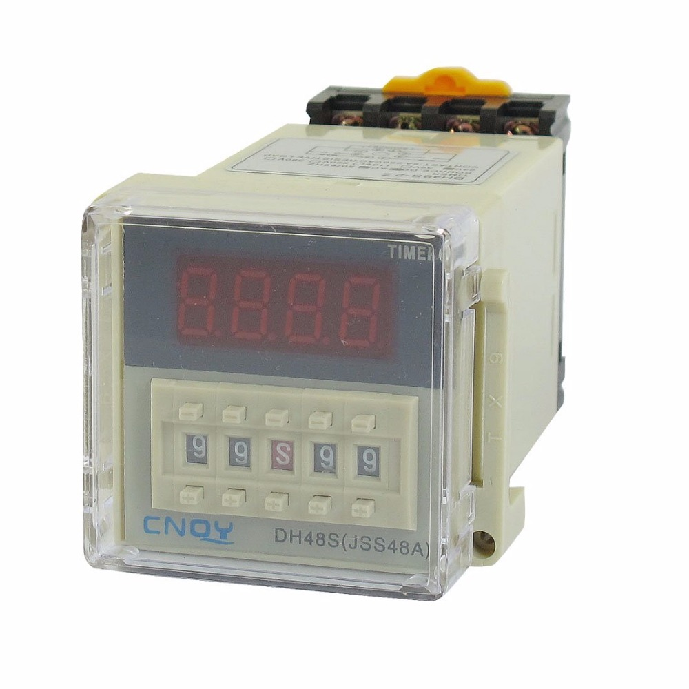 цена на DH48S-2Z Power on Time Delay Relay 8-Pin DPDT 0.01S-99H99M AC/DC24V 12V 110V 220V w Socke 48*48mm