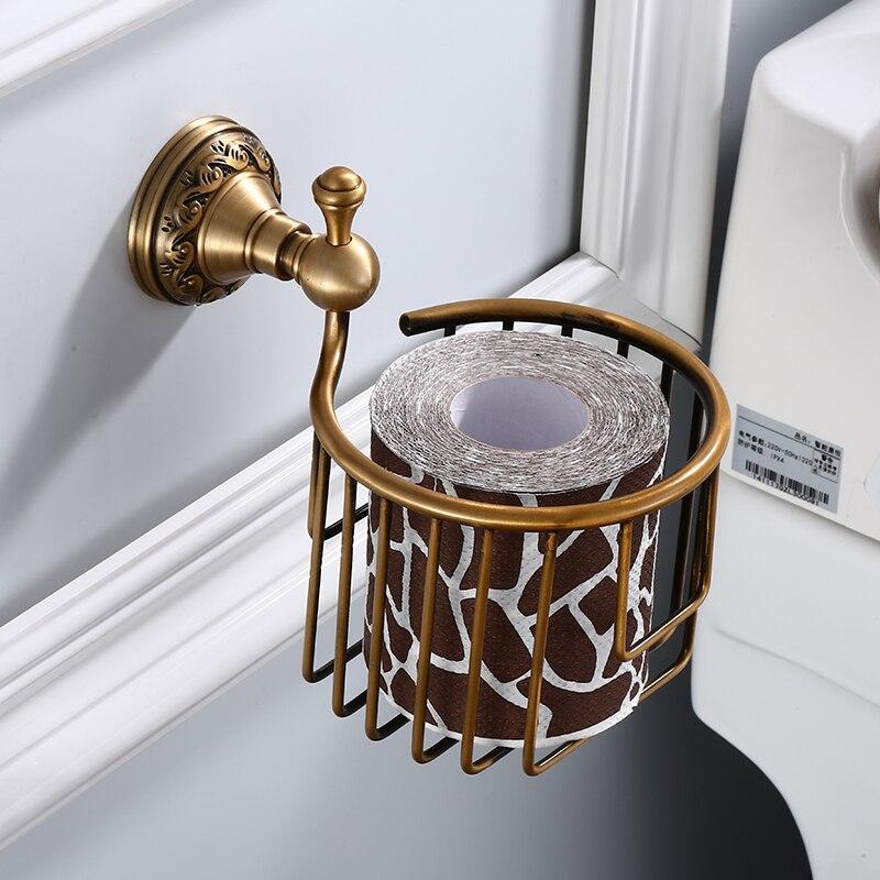 Wall Mounted Brass Toilet Paper Holder Antique Finishing Roll Toilet Paper/Roll Holder Apply Kitchen Bath Restaurant