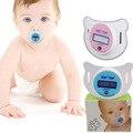 2016 electronic kids pezón cuidado del bebé recién nacido termómetro chupete digitales niños de herramienta de diagnóstico home silicona